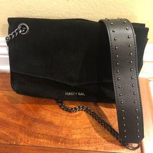 Nasty Gal Black Shoulder Bag With Chain